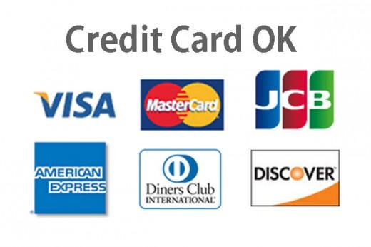 クレジットカード各種利用可能の画像